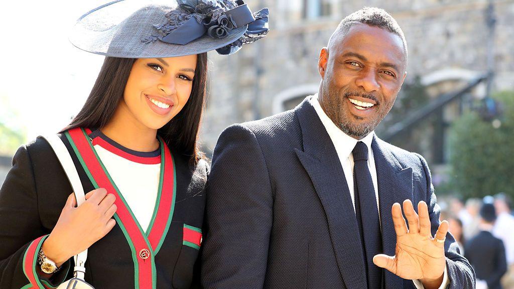 El actor Idris Elba y su mujer