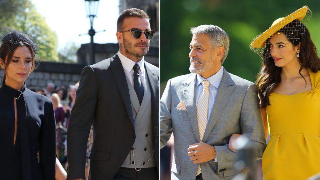 Clooney, los Beckham, Pippa Middleton... Los looks de los invitados a la boda de Meghan y Harry, en fotos