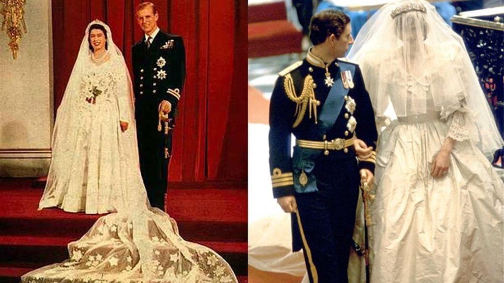 Reina Isabel II y Lady Di, los desconocidos infortunios de sus bodas reales