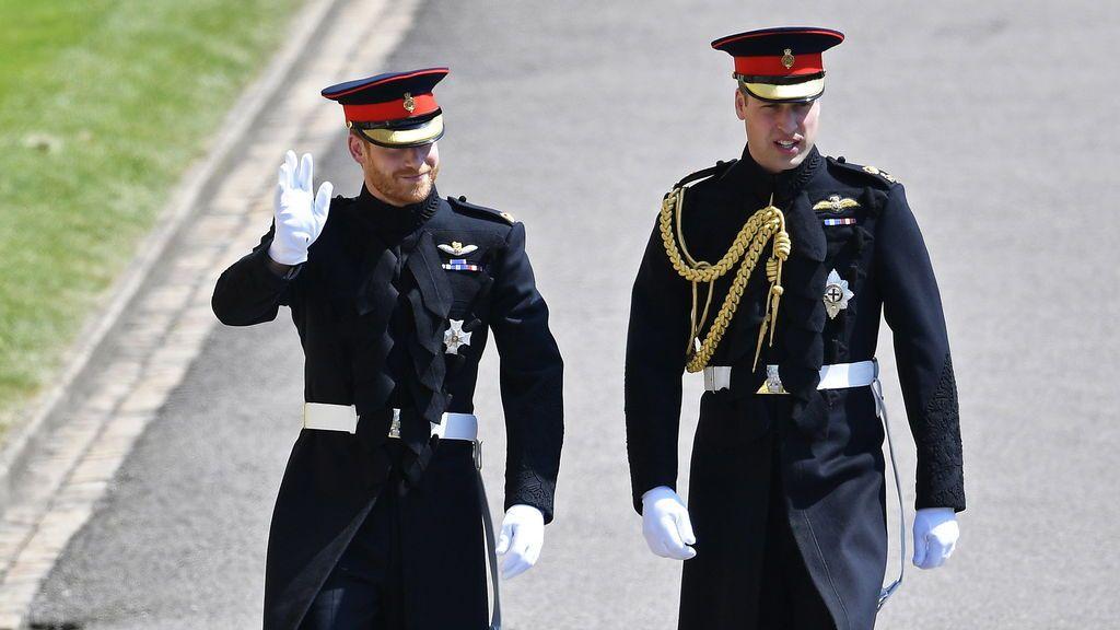 Llegada del príncipe Harry a su boda en Windsor