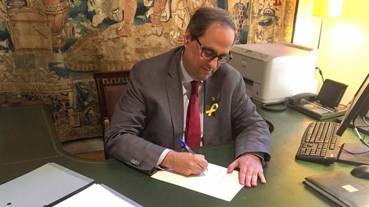 """Torra celebra la """"restitución"""" de consellers y espera la respuesta del Estado"""