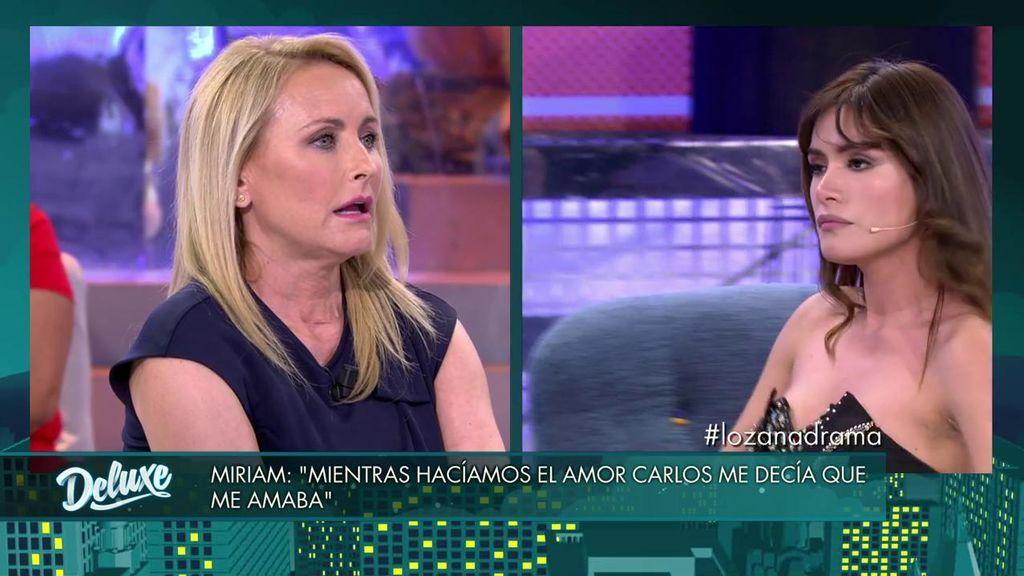 """Tenso enfrentamiento entre Miriam y Lucía Pariente: """"A mí nunca me verás ir a un plató y decir que no amo a mi marido"""""""
