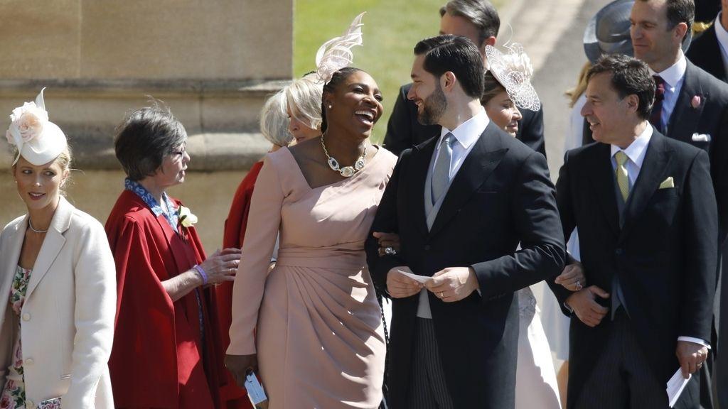 Serena Williams junto a su pareja Alexis Ohanian