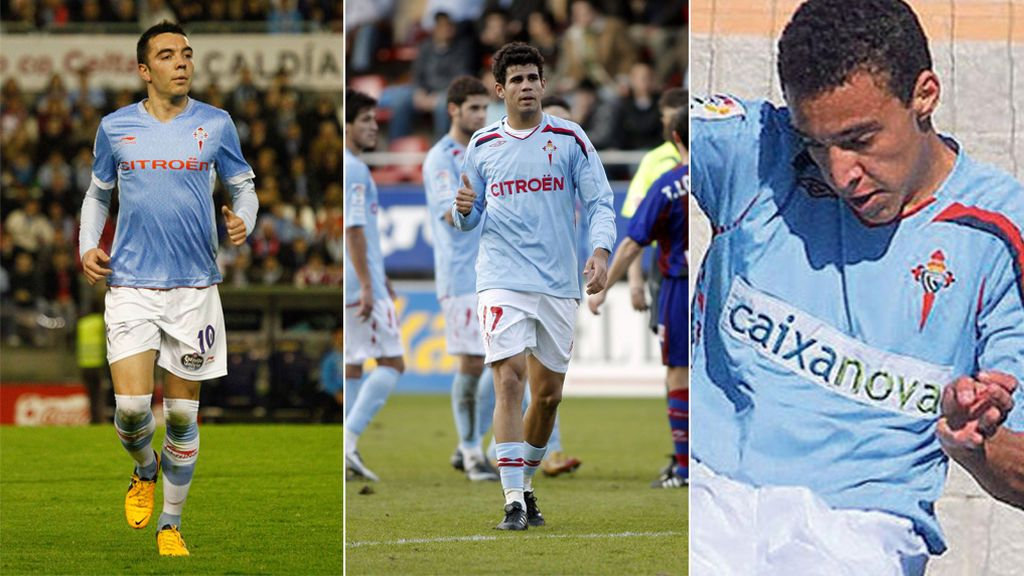 Diego Costa, Iago Aspas y Rodrigo Moreno fueron jugadores del Celta en 2007