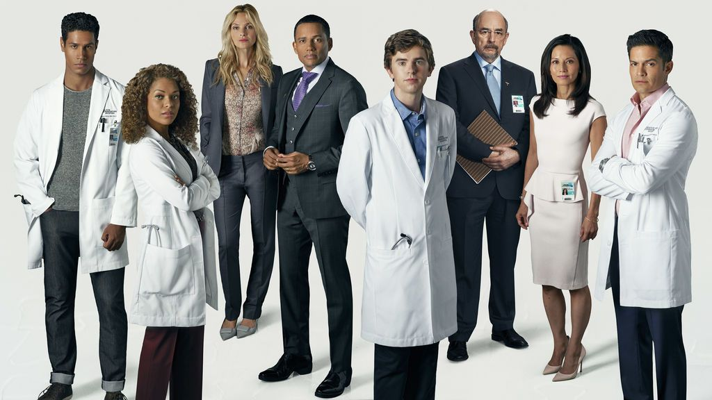 Elenco protagonista de la primera temporada de 'The good doctor'.