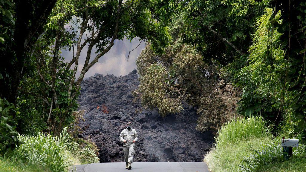 Medición de gases en el volcán Kilauea