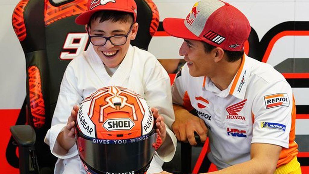 Super Celu, el karateca de 13 años que sufre una enfermedad rara y es amigo de Marc Márquez