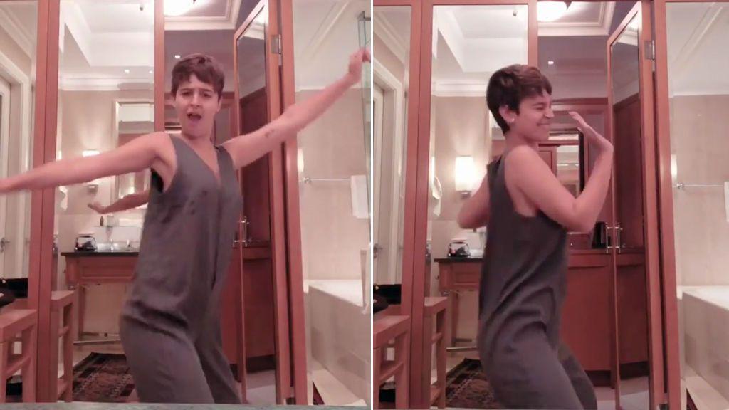 Laura Escanes se vuelve loca bailando 'Cómeme el donut'