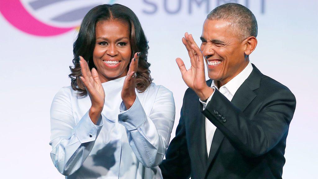 Michelle y Barack Obama, en la Cumbre de la Fundación Obama celebrada en Chicago.