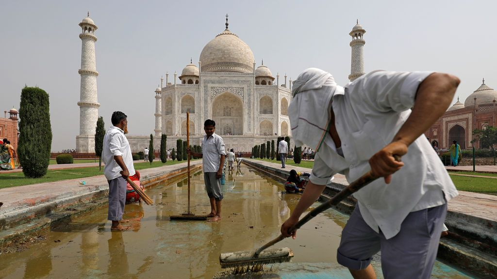 Mantenimiento del Taj Mahal