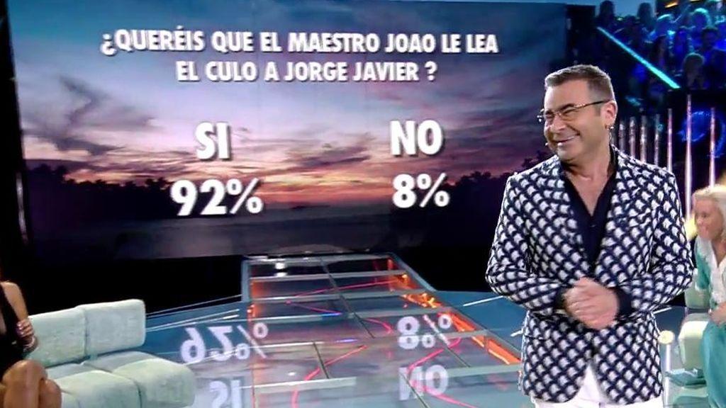 La audiencia, a través de la web, decide que el Maestro Joao le lea el culo a Jorge Javier cuando salga del programa