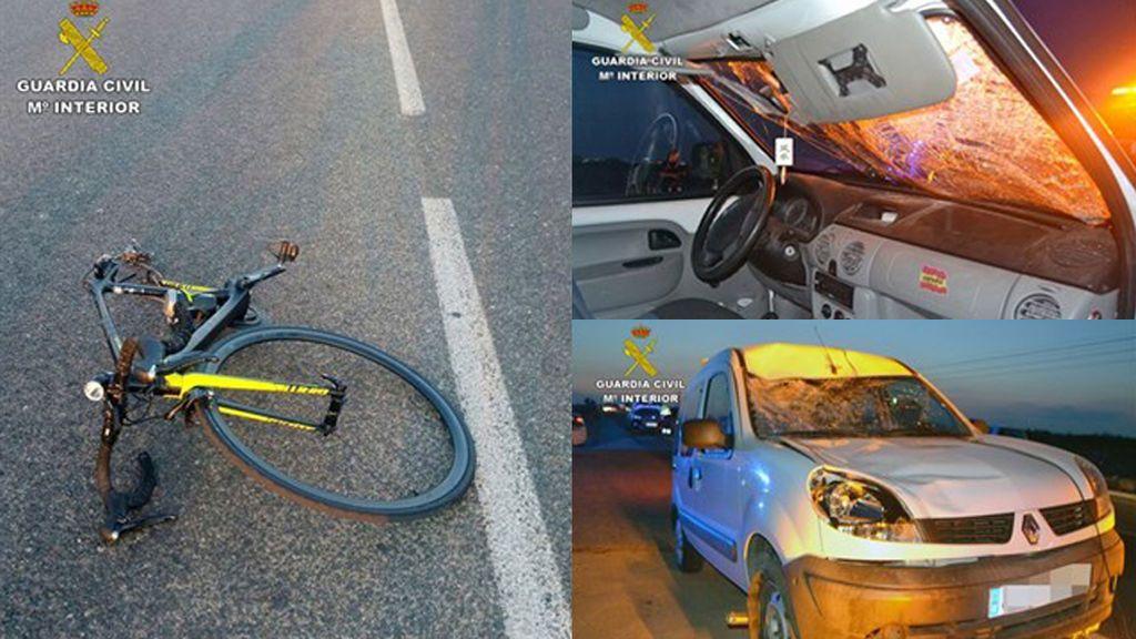 Detenido por atropellar a un ciclista en Cartagena y cuadruplicar la tasa de alcohol