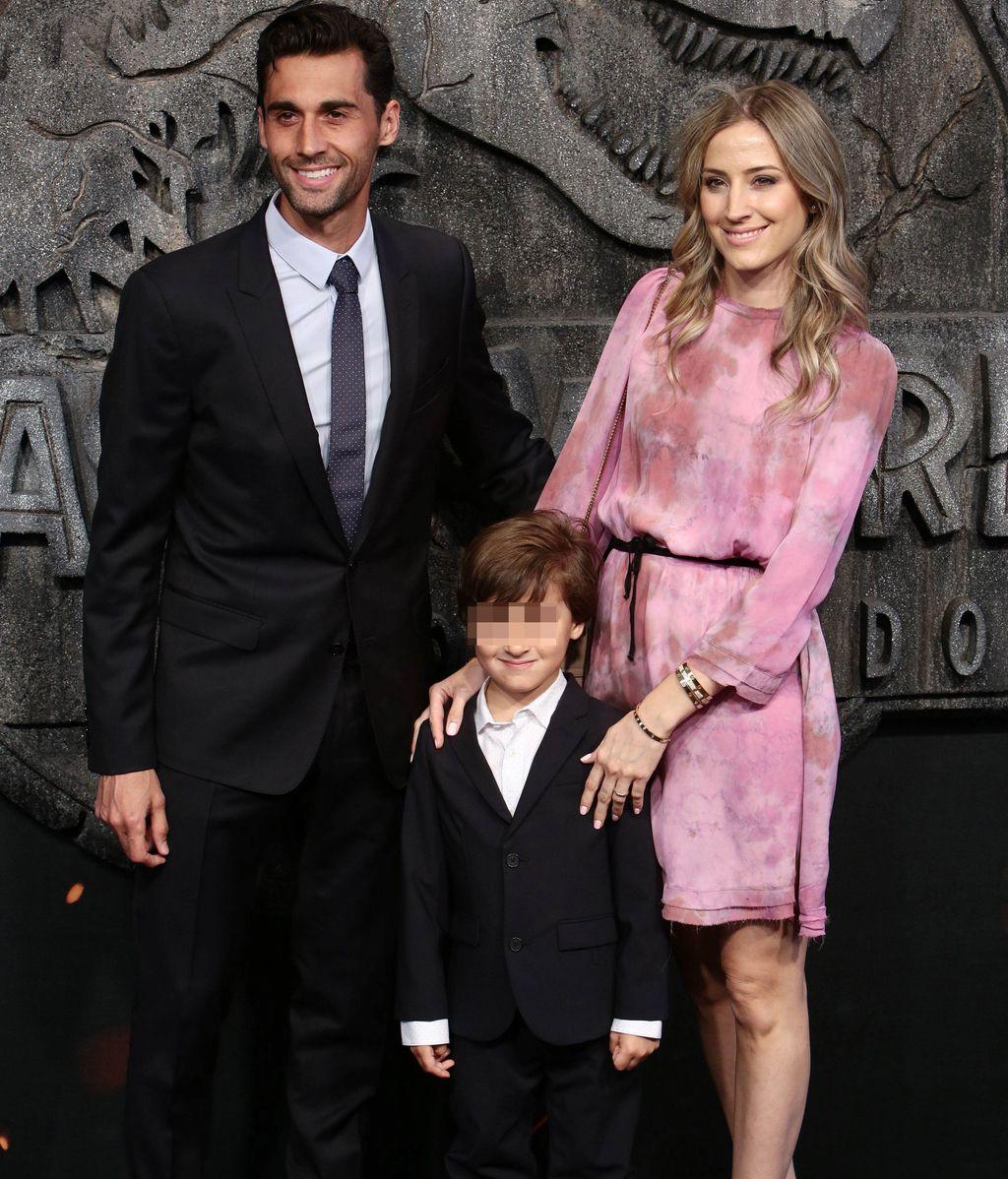 Álvaro Arbeloa, Carlota Ruiz y su hijo Raúl