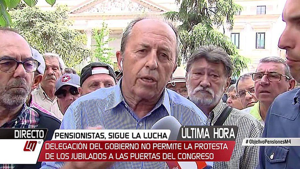 """Leopoldo Pelayo (Plataforma Defensa Pensiones): """"Hay solución para las pensiones pero no hay voluntad y vamos a estar en la calle el tiempo que haga falta"""""""