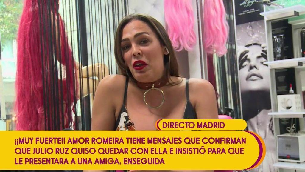 """Amor Romeira: """"Si hubiera querido, habría estado con Julio Ruz"""""""