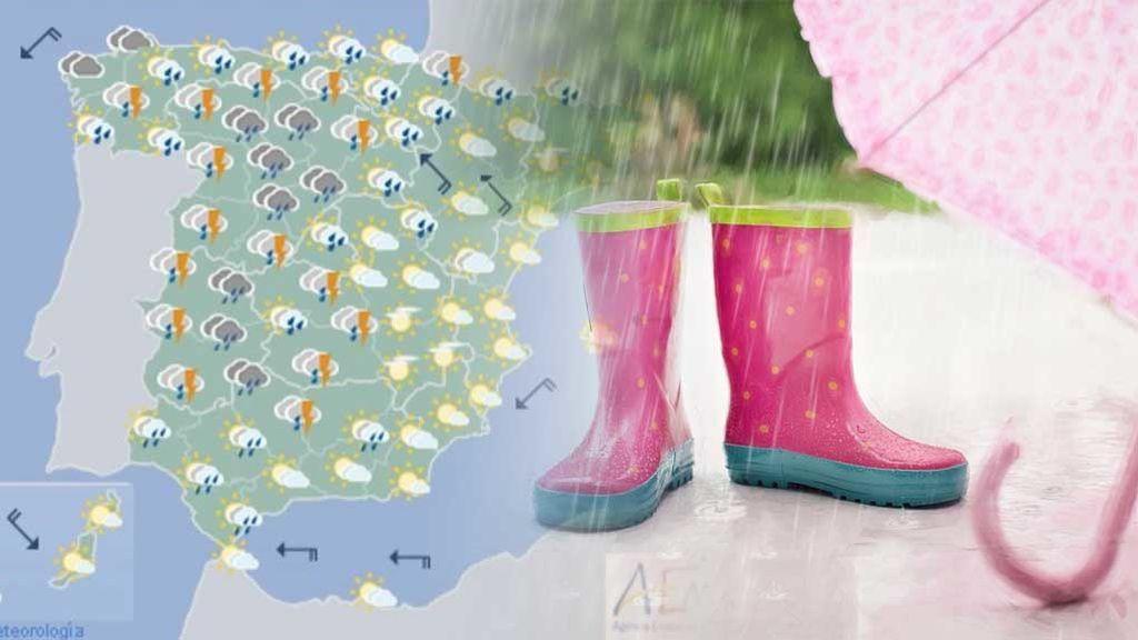 Habrá mal tiempo el sábado y domingo: analizamos por qué suele llover más el fin de semana