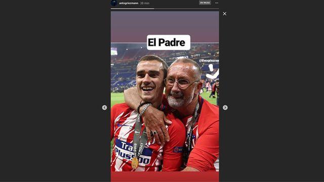 Griezmann cuelga una foto con la camiseta del Atleti desde la concentración de Francia 2
