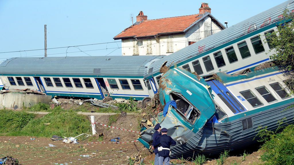 Accidente ferroviario en Italia