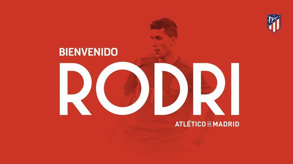 Rodri ya es nuevo jugador del Atlético de Madrid para las próximas cinco temporadas