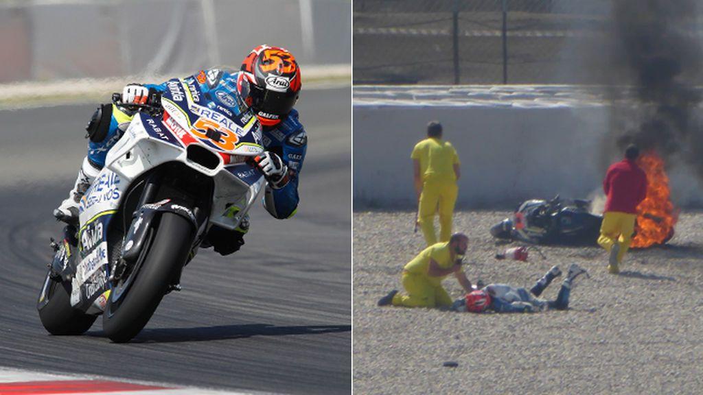 Tito Rabat continúa hospitalizado tras una violenta caída que terminó con su moto en llamas en Barcelona