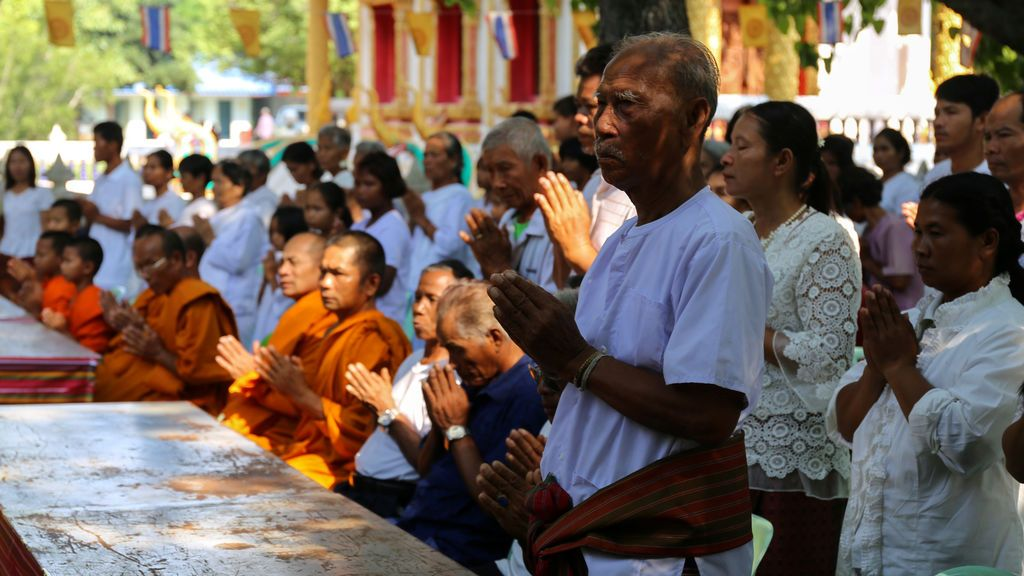 Reunión budista en Tailandia