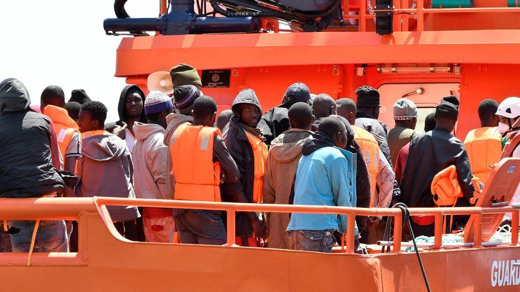 Salvamento rescata a 282 inmigrantes de nueve pateras