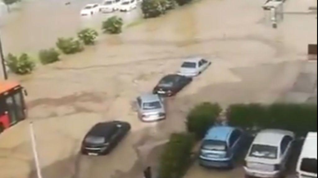 Zaragoza, inundada por una fuerte tormenta