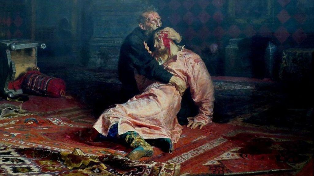 Un vándalo destroza el cuadro 'Iván el Terrible y su hijo' en un museo de Moscú