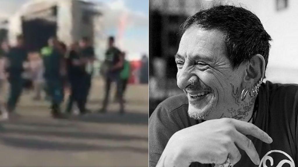 Evaristo, exvocalista de 'La Polla Records', retenido e identificado por la Guardia Civil al final de un concierto