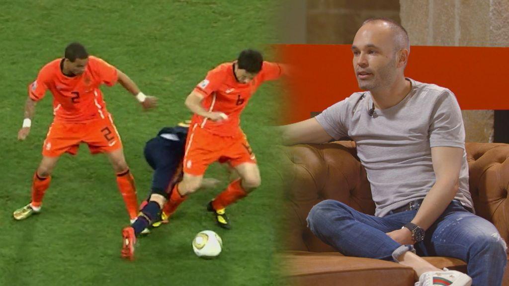 """Iniesta, al borde de perder los nervios con Van Bommel y Cristiano Ronaldo: """"Me llevó al límite"""