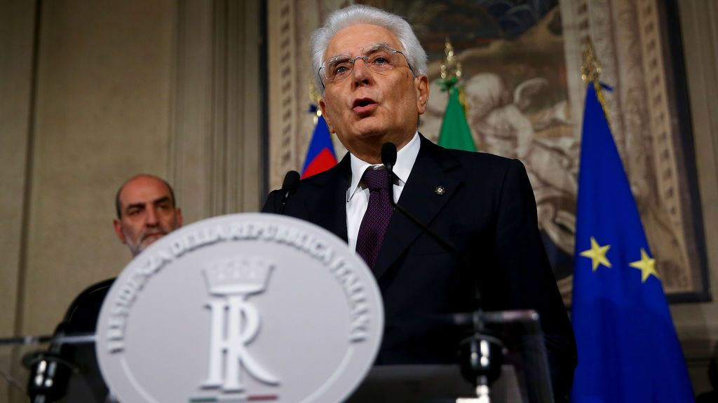 Mattarella rechaza al ministro de Economía propuesto por Conte, que renuncia a formar Gobierno
