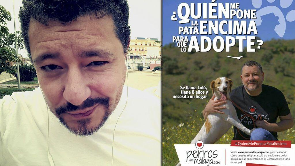Jorge Berrocal 'GH1' modifica su mítica frase para fomentar la adopción de perros abandonados