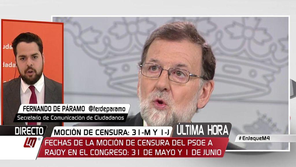 """De Páramo: """"Compartimos con Sánchez que la legislatura está liquidada, pero la solución no es un gobierno con los populistas o los separatistas"""""""