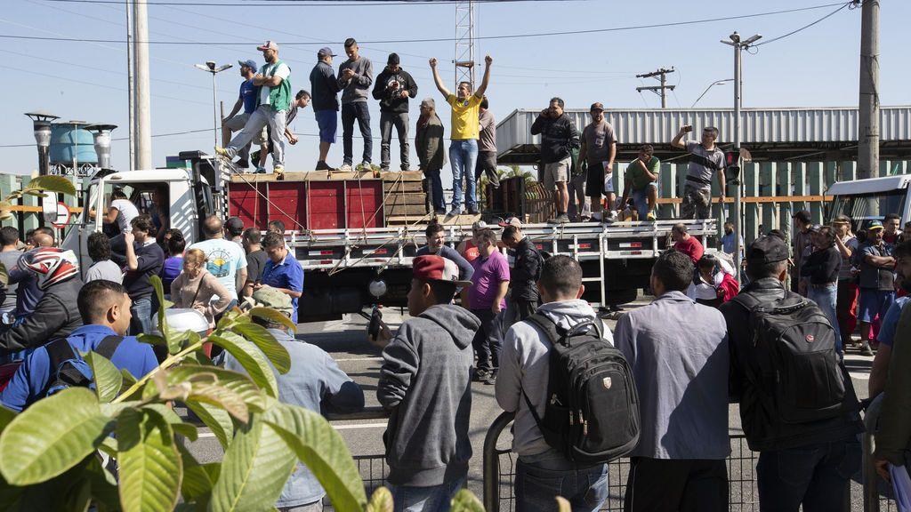 Protestas de camioneros en Brasil