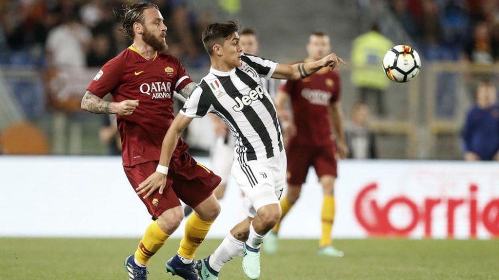 Imagen del partido de la liga italiana entre el Roma y el Juventus disputado el 13 de mayo de 2018.