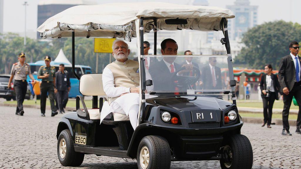 Reunión entre el primer ministro indio y el presidente de Indonesia