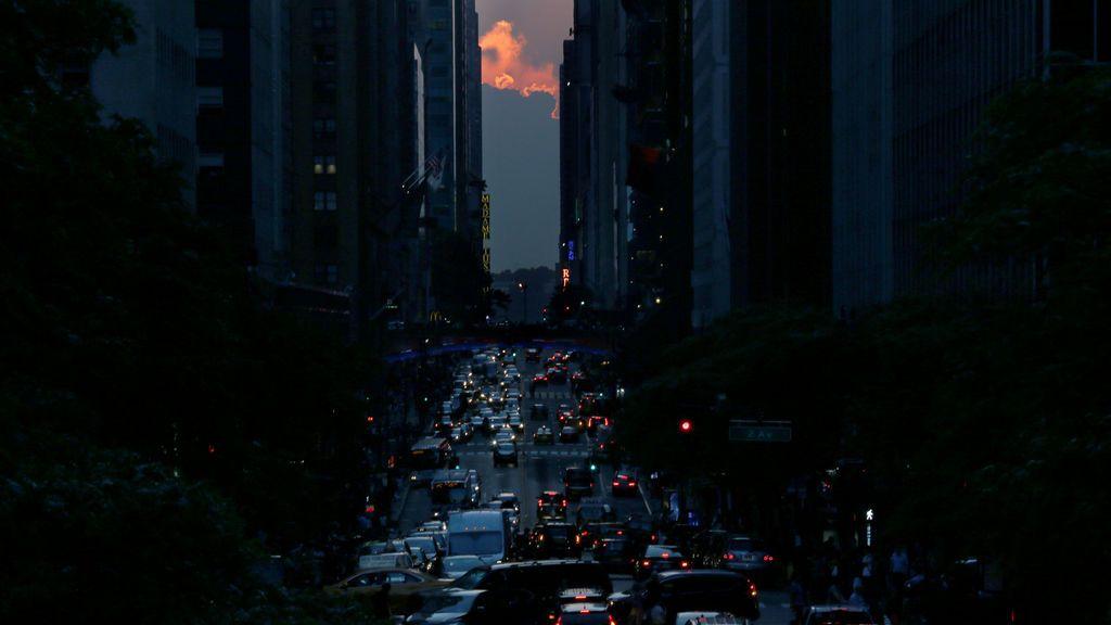 El famoso Manhattanhenge en Nueva York