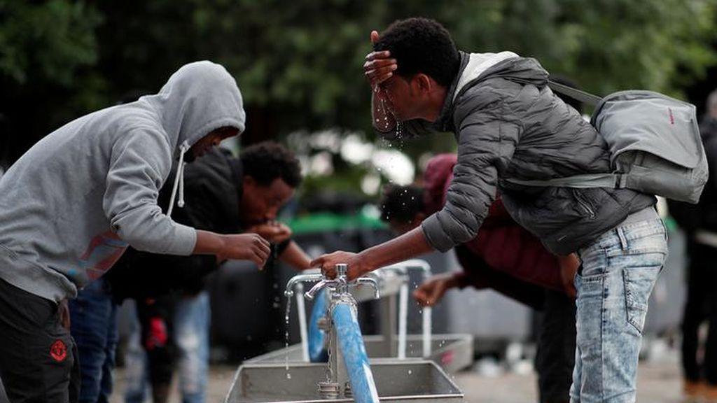 Campamentos improvisados de inmigrantes en París