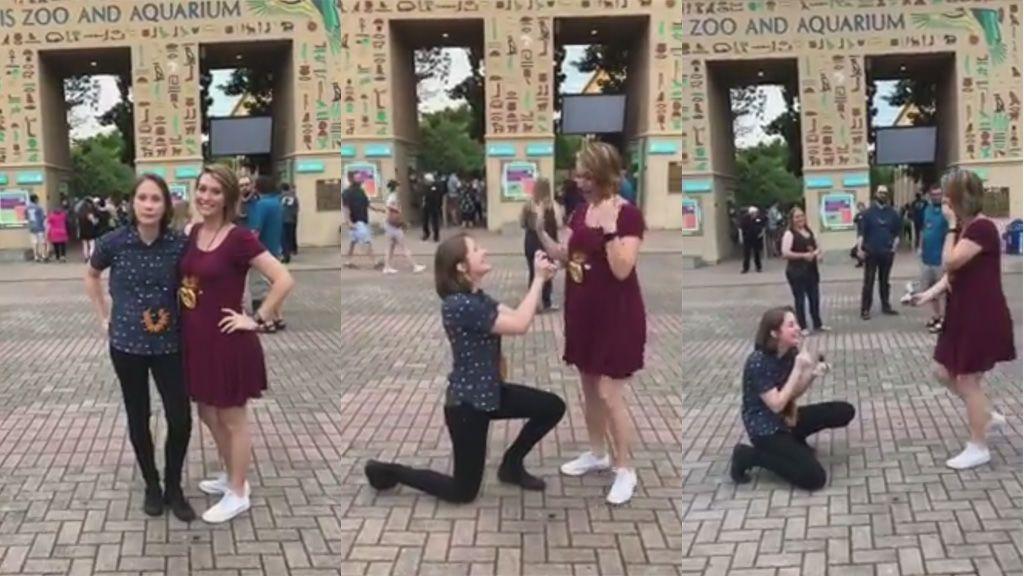 Ella se adelantó, le propuso matrimonio y la respuesta vino con sorpresa