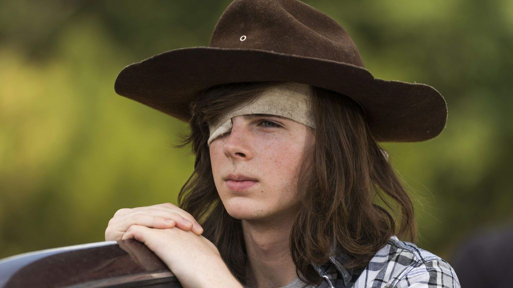 Chandler Riggs es Carl en 'The walking dead'