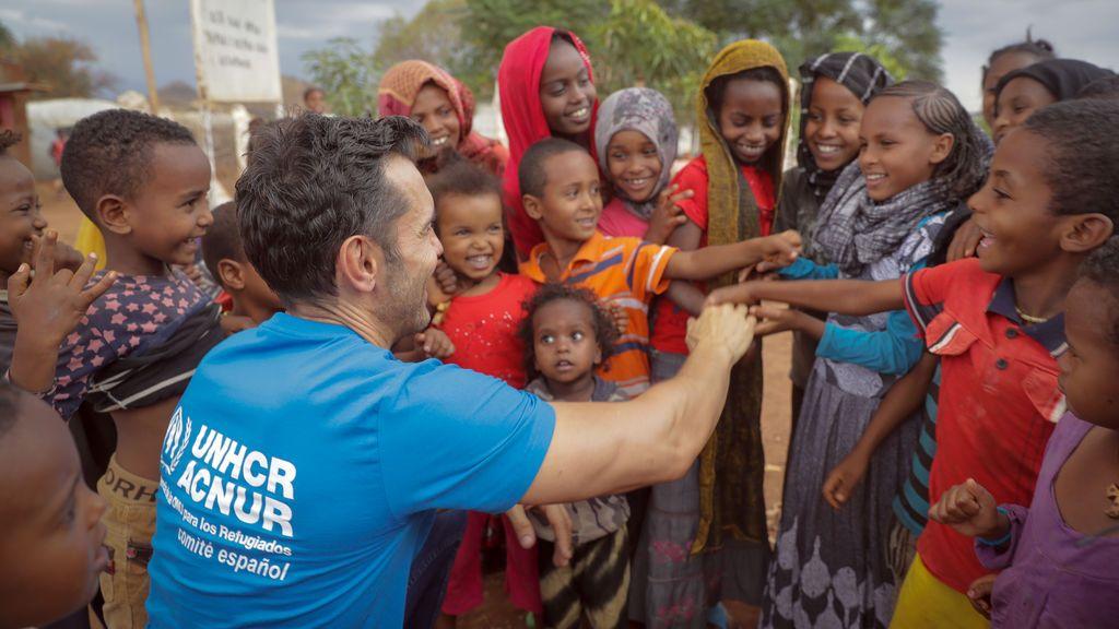 Jesús Vázquez y ACNUR, comprometidos con los refugiados durante más de 10 años