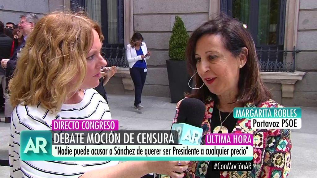"""Margarita Robles: """"Si Rajoy dimite, retiraremos la moción de censura"""""""