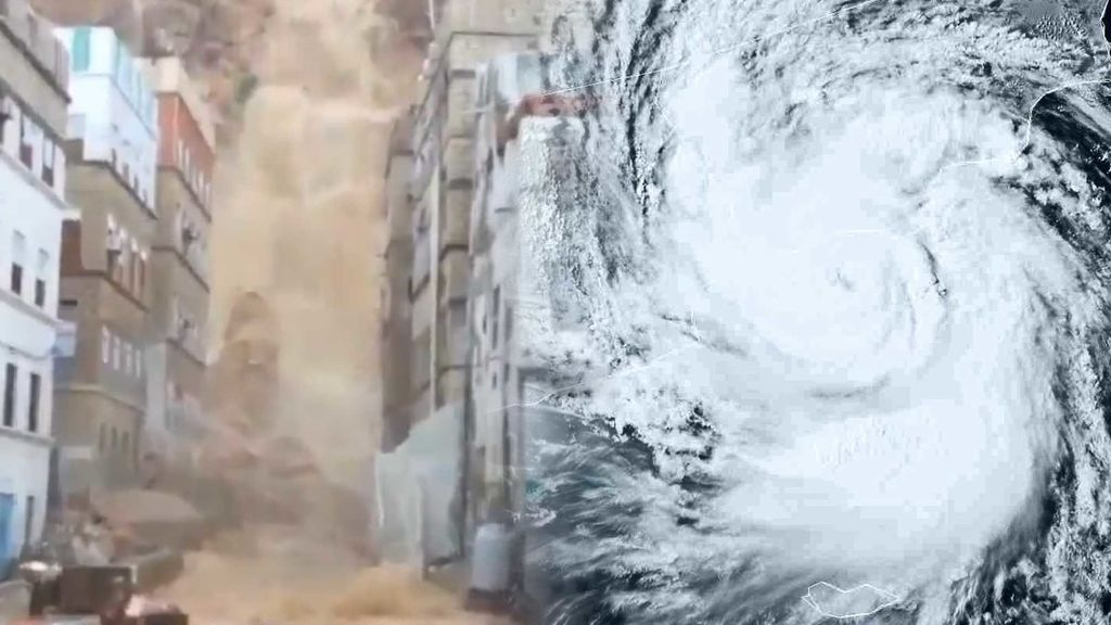 Una cascada que se traga la ciudad y lluvias equivalentes a tres años: el tiempo loco se ceba con Omán