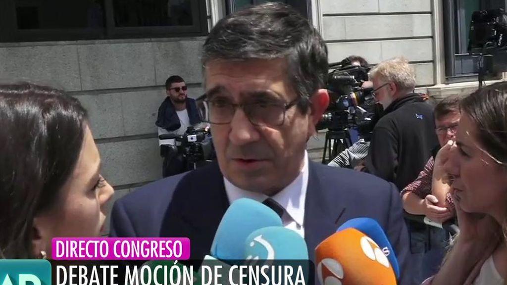 """Patxi López: """"El PNV tiene que decidir si quiere a Rajoy como presidente o no"""""""