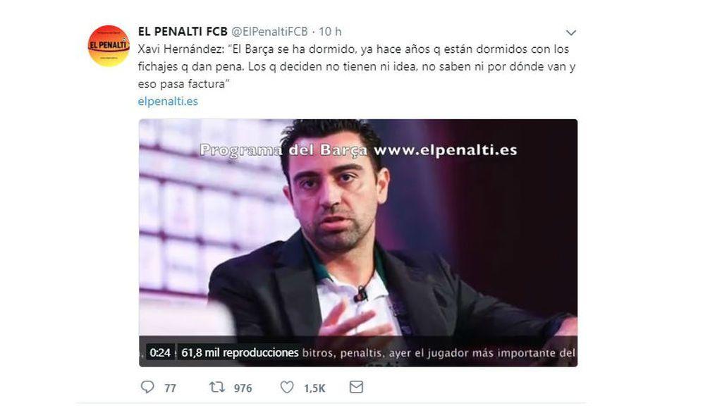 Xavi Hernández tuit