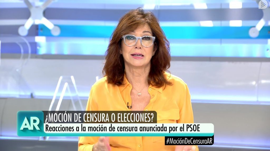 Ana Rosa Quintana, en el magacín matinal de Telecinco del 28 de mayo de 2018.