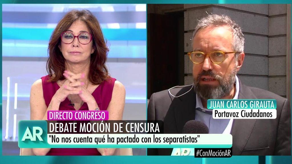 """Girauta: """"Aquí lo que se vota es sí o no a Pedro Sánchez. Ciudadanos va a votar no"""""""