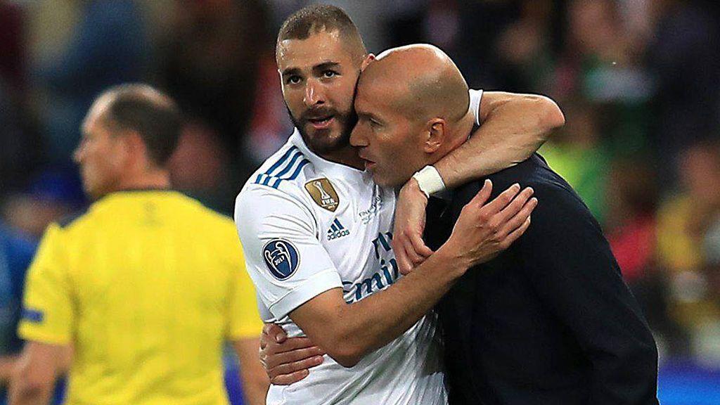 """El mensaje de agradecimiento de Benzema a Zidane: """"Merci, Zizou"""""""