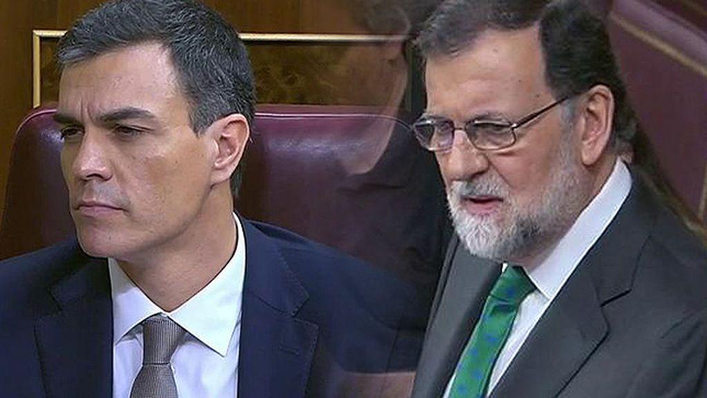 La 'batalla dialéctica' de Rajoy y Sánchez ante la moción de censura