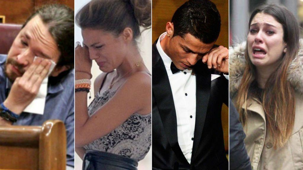 Lloros vip: Pablo Iglesias y otros a los que se les ha caído la lagrimita en público